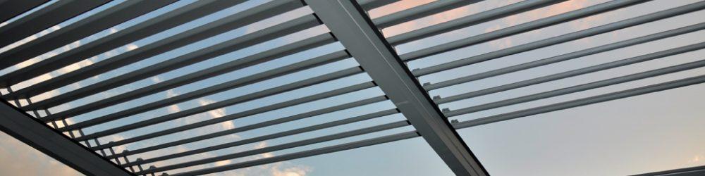 Pergole retractabile cu acoperis de aluminiu , total retractabile